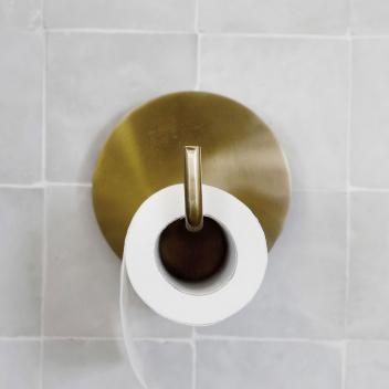Porte-papier toilette ou grand crochet en métal doré pour vos pièces d'eau
