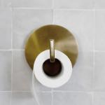 Porte-papier toilette métal doré
