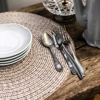 Set de table rond en Vinyle Beija Flor Façon tressage Modèle PB2
