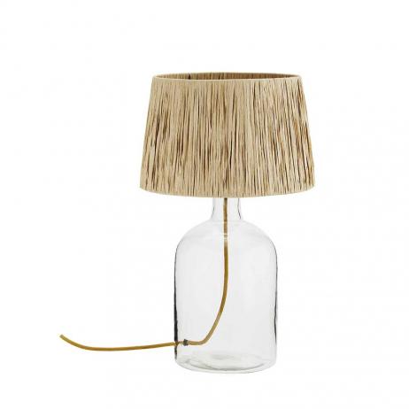 Lampe à poser en raphia style minimaliste - Stoltz