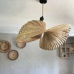 Abat jour Coquillage Ajouré en Bambou de Bali