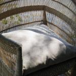 Coussin de chaise Extérieur confortable garni coloris Sable