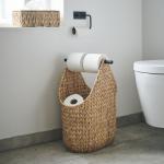Panier naturel Porte-papier toilette pour vos pièces d'eau