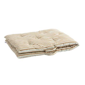 Sur-matelas XL édredon coton imprimé rayures orange - Madam Stoltz