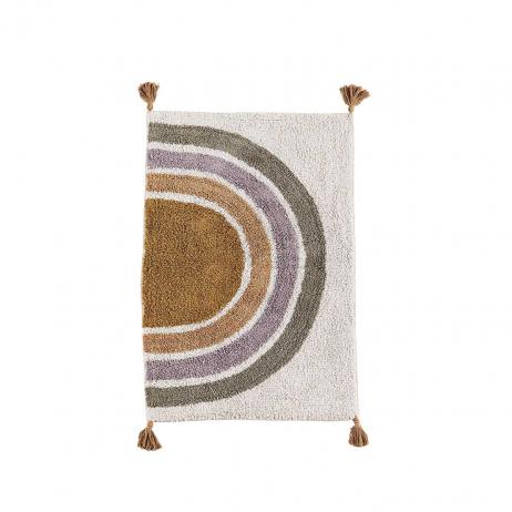 Tapis de douche ou salle de bains en coton et Latex motif berbère
