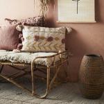 Sur-matelas avec franges coloris Taupe - édredon en coton très confort