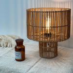 Lampe à poser Naturelle en Bois de rotin