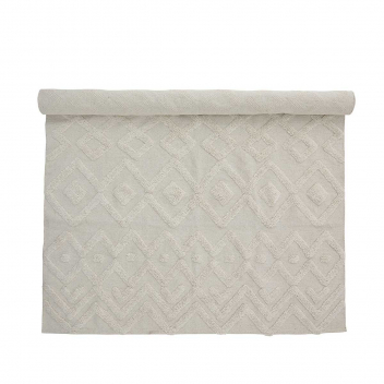 Tapis coton relief blanc Billa 140 x 200 cm Bloomingville