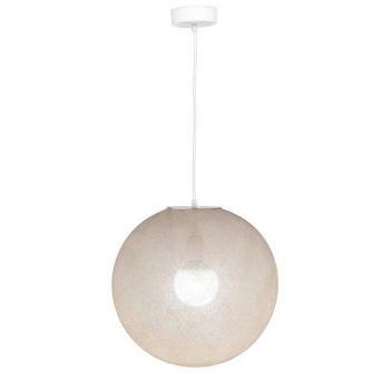 Suspension Globe écru taille M 36cm - La case de cousin Paul