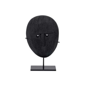 Objet visage en bois de manguier brulé - 2 tailles