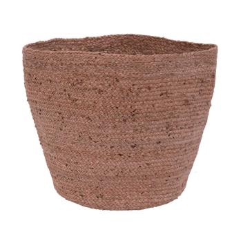 Panier - cache pot rose 100% jute diam. 30cm