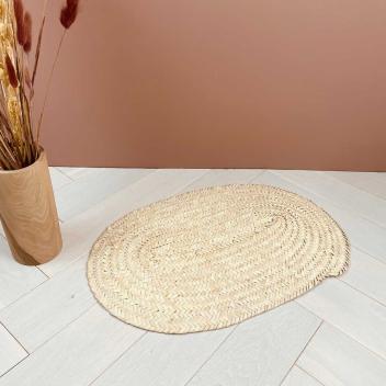 Dessous de plat ou centre de table Ovale artisanat Berbère en palmier