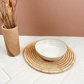 Dessous de plat artisanat Berbère Rond en raphia