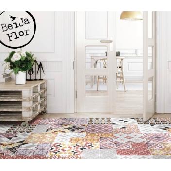 Tapis et sets Beija Flor en vinyl imitation carreaux de ciment ... 435104d4ce7d