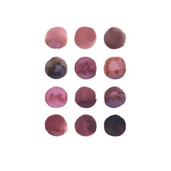 Affiche cerise bordeaux et rose