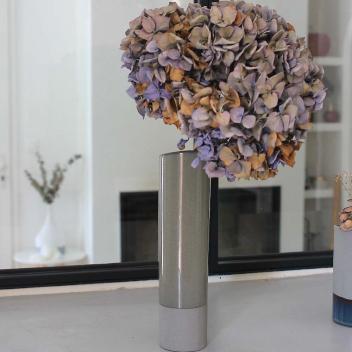 Vase en céramique bronze/gris