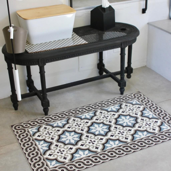 tapis et sets beija flor en vinyl imitation carreaux de. Black Bedroom Furniture Sets. Home Design Ideas