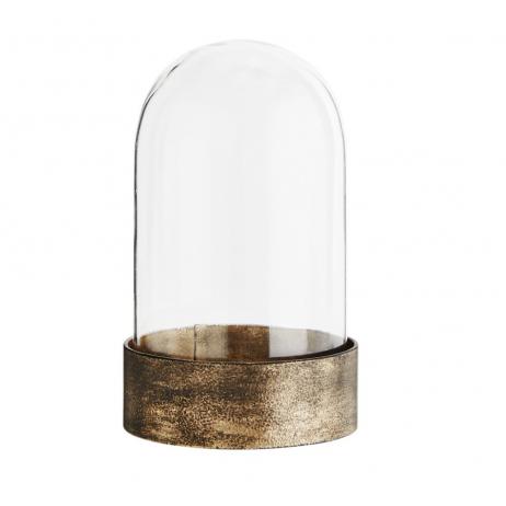 Globe en verre et laiton