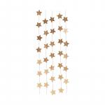 Guirlande papier étoiles dorées