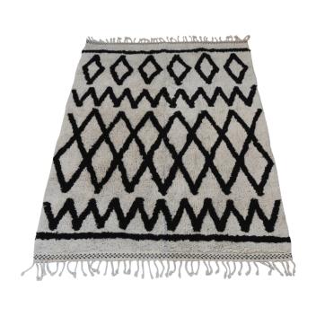 Grand tapis style berbère 170 x 240 cm noir et blanc Snowdrops