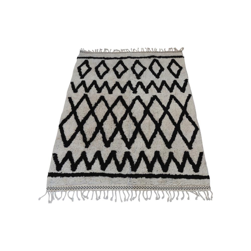 tapis berb re coton lavable noir et blanc snowdrops. Black Bedroom Furniture Sets. Home Design Ideas