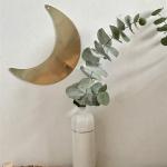 Lune dorée à suspendre