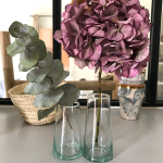 Petit vase 12 cm en verre Beldi
