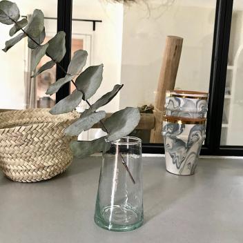 Petit vase 10 cm en verre Beldi