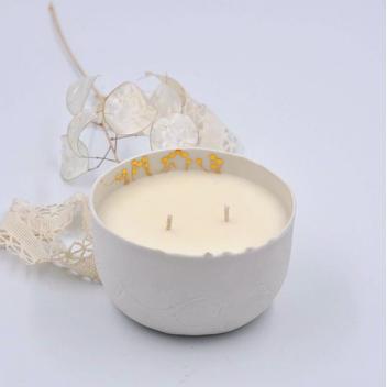 Bougie pot blanc Porcelaine Myriam Aït Amar - Madeleine