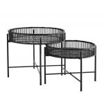 Table basse en bambou noir