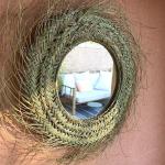Miroir paille Doum Pablo