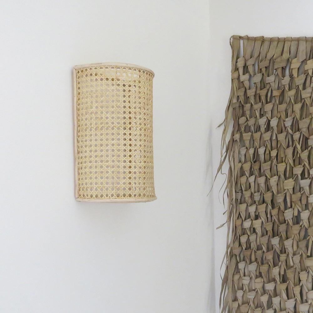 Applique Murale Pour Lampe En Cannage Artisanat Marocain