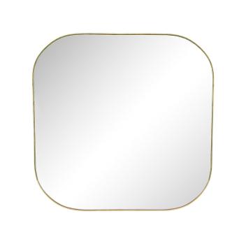 Grand miroir carre en métal doré bordure fine