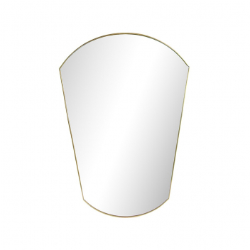 Grand miroir style retro en métal doré