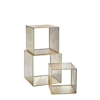 Casier en métal doré ou étagère métal design - Madam Stoltz