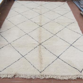 Grand Tapis Béni ouarain motif losanges 300 cm x 200 cm
