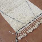 Tapis Béni ouarain format couloir motif grand losange