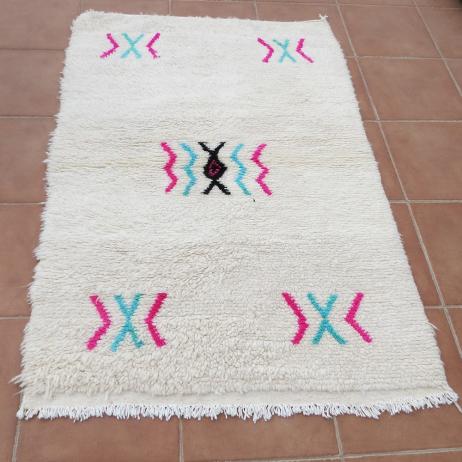 Tapis Berbere Azilal Motif Colore 150 X 100 Cm