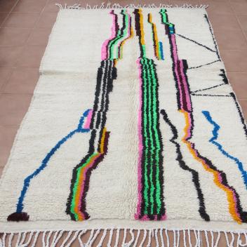 Tapis berbère Azilal coloré 250 x 150 cm