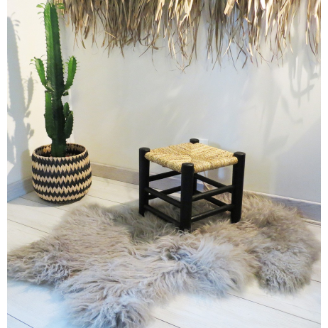 Tabouret marocain beldi en bois