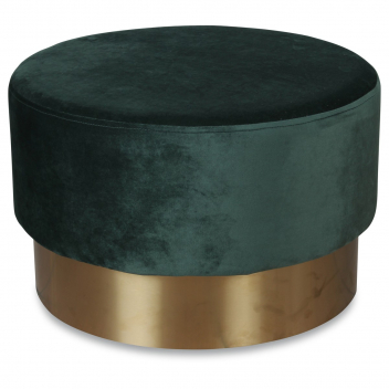 Grand pouf en velours vert menthe