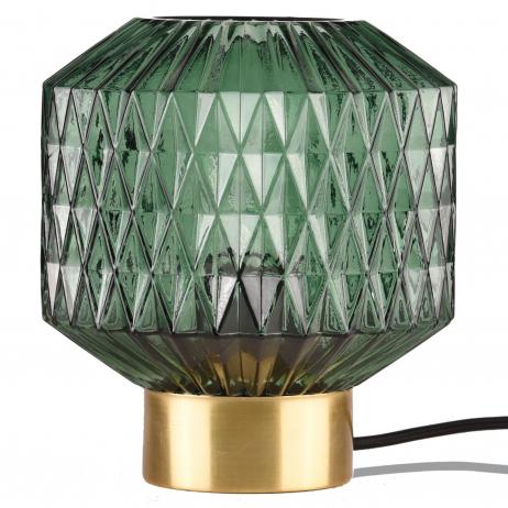 Lampe à poser verre ciselé coloris vert