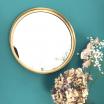 Grand Miroir rond métal doré