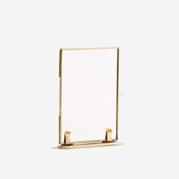 Cadre Photo sur pied en métal doré 15 x 10 cm