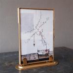 Cadre Photo sur pied en métal doré Taille 10 x 15 cm