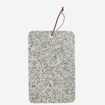 Planche à découper rectangle en Granit avec lien cuir