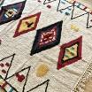 Tapis en Coton Coloré - Fond écru