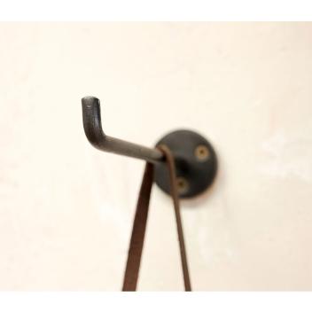 Patère taille M crochet pour suspension en métal noir