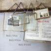 Cadre Photo métal doré à suspendre avec lien tissu