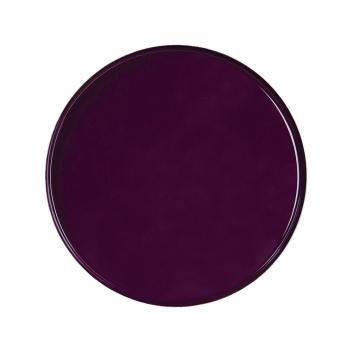 Plateau rond en métal Violet Brillant D 36 cm - Klevering